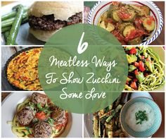 Make delicious use of abundant summer #zucchini with these #MeatlessMonday recipes!