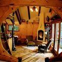 Heidi's Treehouse Chalet, living room treehous chalet, heidi treehous
