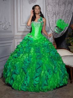 Lime green and white wedding dress dresses discountQuinceanera Dresses Turquoise And Lime Green