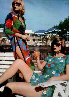70's fashion Beachwear