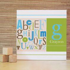another cute abc frame for nursery