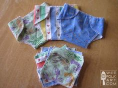 Flannel dolly diapers and wipes. Love 'em!