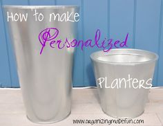 Organizing Made Fun: Curb Appeal: Customized planters