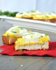 Deviled Egg Toasts from Alexandra Hedin via Sweet Paul My Happy Dish