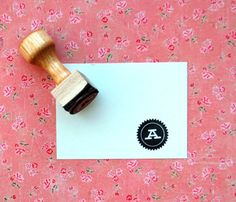 Initial Rubber Stamp by ann-marie loves paper