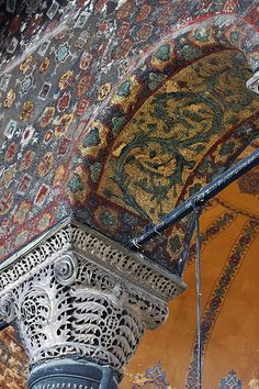interior architectural details, Hagia Sophia, Istanbul, Turkey | UNESCO World Heritage Site (part of the Historic Areas of Istanbul)