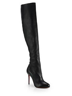 [christian louboutin] <3 Sempre Monica Leather Over-The-Knee Boots