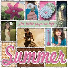 Pictures of my daughter.  Kit used:  Aprilisa's Everyday Basic.  Template:  LissyKay Designs' My (Summer) Story available at http://store.gingerscraps.net/My-Summer-Story-by-LissyKay-Designs.html