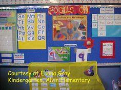 Kindergarten ELA/Reading Focus Wall