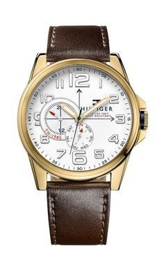 love this brown leather strap watch. #fathersday