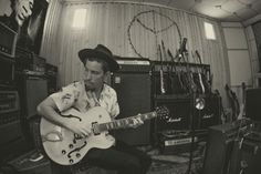 Shaun White making music. Photo by Gabe L'Heureux.