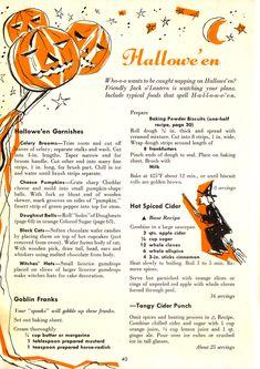 vintage halloween recipes