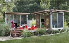 Love this pre-fab for a outdoor office / art space