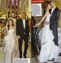 eva longoria and wedding dress