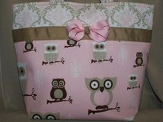 Boutique Style Girl Diaper Bag by storkready on Etsy, $35.00