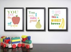 Nursery Art  Children's Quotes  Fruit by FitToPrintDesigns on Etsy, $42.00