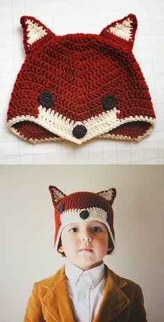Fox hat - free crochet pattern