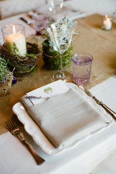 moss detailed place settings