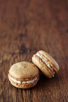 Coffee Macaroon with Mascarpone Cheese - I have fallen in love with French Macaroons so these intrigue me. Here's a link to the recipe (without the photo): http://www.myfudo.com/easy-desserts-recipes-kony-2012-ugandan-coffee-macarons/  *ME*