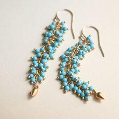Turquoise Earring Resort Jewelry Gemstone Jewelry by laurastark, $89.00