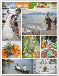 JADE GREEN & ICE BLUE WEDDING THEMES   Found on luxemountainweddings.com