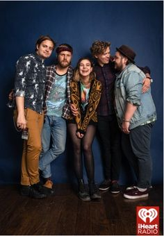 June 6 - Of Monsters and Men posing for a photo before they perform as part of the iHeartRadio LIVE Coca-Cola Summer Series.  Photo Credit: Roger Kisby