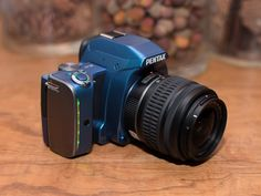 The Pentax K-S1 is colorful, has a huge viewfinder eyecup, and glows in the dark!