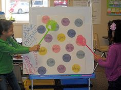 Fly swatter sight word game