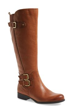 Ready for fall with this camel knee high boot.