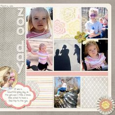 Zoo Scrapbook Layout by No Reimer Reason