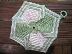 Ravelry: Petal Potholder - free crochet pattern by American Thread Company
