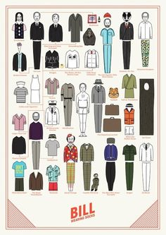 nieg borg, wear sock, paper dolls, bill wear, bill murray