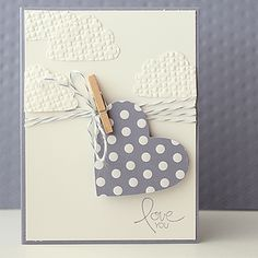 clotheslines, cloth pin, clothespin, stampin up cupcake cards, valentine cards, cloud, clothes lines, baker, heart cards