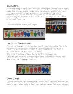Fun Christmas Lights Alphabetical Order Center!