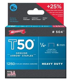 Arrow 504 Genuine T50 1/4-Inch Staples, 1,250 stap  Review   -   Arrow 504 Genuine T50 1/4-Inch Staples, 1,250 staples per Pack was  created  by Arrow Fastener and  available  on Amazon with $13.56.  Now ,  I   would like  to  tell  you this  unit  is  supplying  for $2.76 USD brand new..  There are only 49  units  left  model  new. Buy Arrow 504 Genuine... - http://gopher.arvixe.com/~reviews/arrow-504-genuine-t50-14-inch-staples-1250-stap-review/