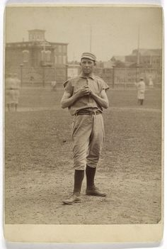 Unidentified baseball player in pitching form, ca. 1890  A.G. Spalding Baseball Collection, New York Public Library