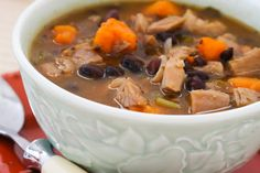 Turkey and Sweet Potato Soup with Black Beans