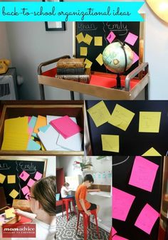 Smart Back to School Organization Ideas from @postitproducts using the Post-it Study collection.