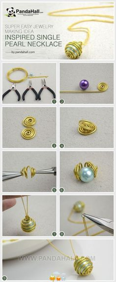 singl pearl, jewelry making, diy fashion, jewelry displays, diy necklace, pearl necklaces, easy diy wire jewelry, wire wrapping jewelry diy, bead necklaces