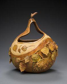 carved gourd by Marilyn Sunderland
