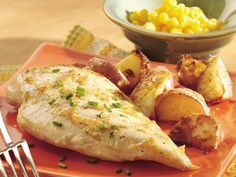 Zesty Roasted chicken and potatoes. This is one of my favorite recipes ever! Easy and delicious!