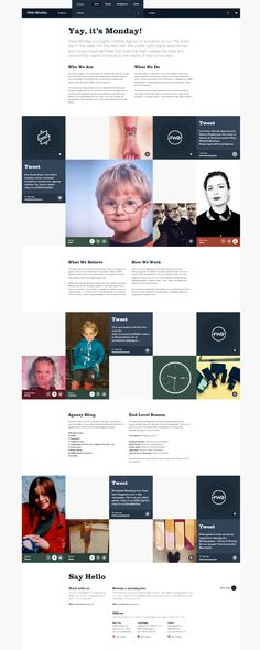 HM blog style onepage one page website webdesign ux ui design