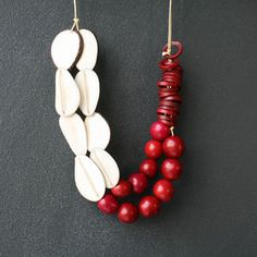 Diana Samper | Jewelry Made From Nature - Rojo Y Blanca Necklace