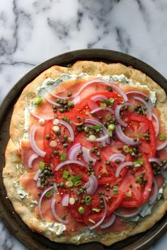 Loaded Everything Bagel & Lox Pizza