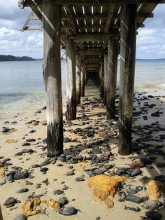 Under the boardwalk.  #pier #beach #ocean