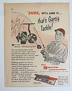 1959 Garcia Mitchell 304 Spinning Reel with Boy
