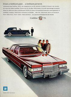1975 Cadillac Fleetwood Brougham & 1938 Town Car