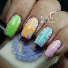 Lucy's Stash Nail Art   Pastel Union Jacks [LOOOOOOVE.]