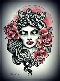 tattoo design by *oldSkullLovebyMW on deviantART