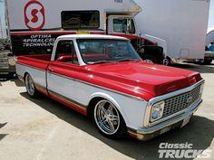 White/Red Chevy C10 Truck